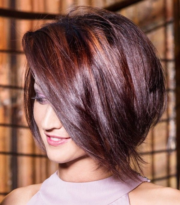 Gallery For > Shaggy Stacked Bob