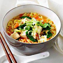 Sesame tofu and noodles