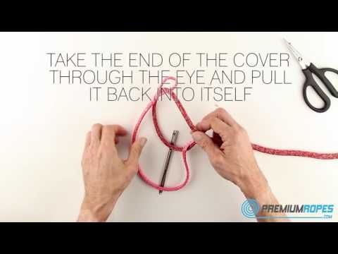 How to make an eye-splice in a double braided Dyneema rope? In this instruction video we show how to splice this without using the cover. A Dyneema core does not need the protection of the cover as it has great UV protection. #splicing #premium #dyneema #ropes #eyesplice #ropesplicing #yachtrigging #dsplicer #rigging #sailing #sailingyacht #halyard