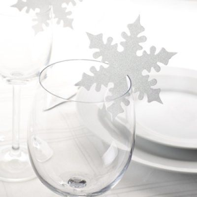 """Marque-Places """"Flocon Blanc"""" Décoration Table Mariage / Fëte (lot de 10) par Un Jour Spécial : accessoires & décorations de mariage"""