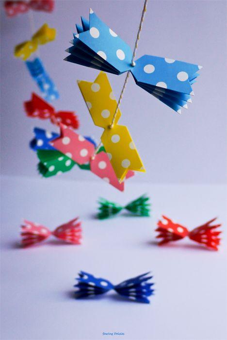 Polka dot paper garland