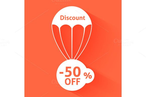 Check out Discount parachute by robuart on Creative Market