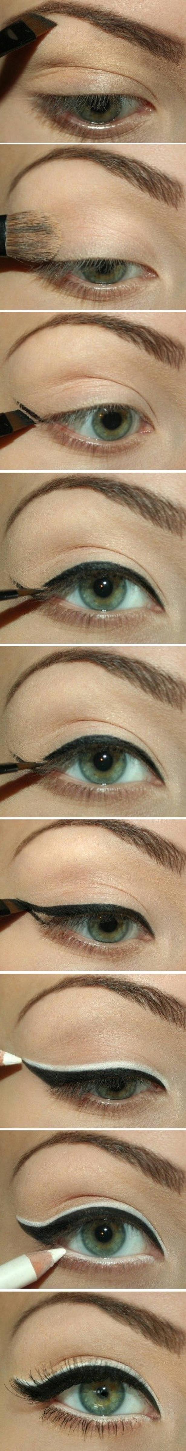 pretty black and white eyeliner