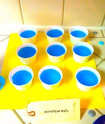 mouthwash for dental school graduation party { blue gatorade}