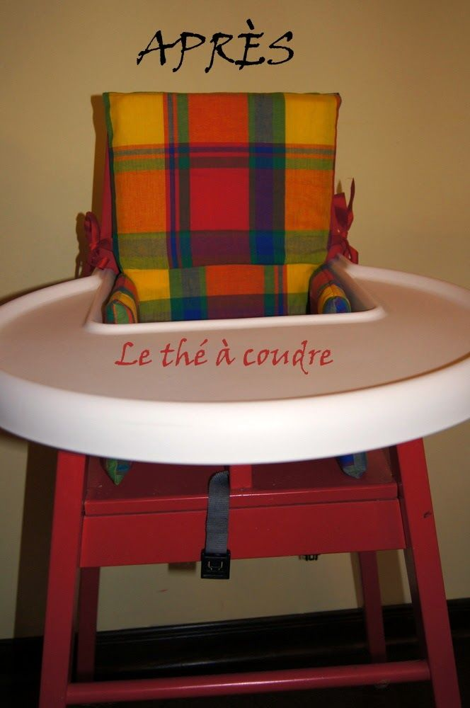 Coussin pour chaise Ikea Blämes! Cover for Ikea Blämes chair! With some information to do it! By le thé à coudre