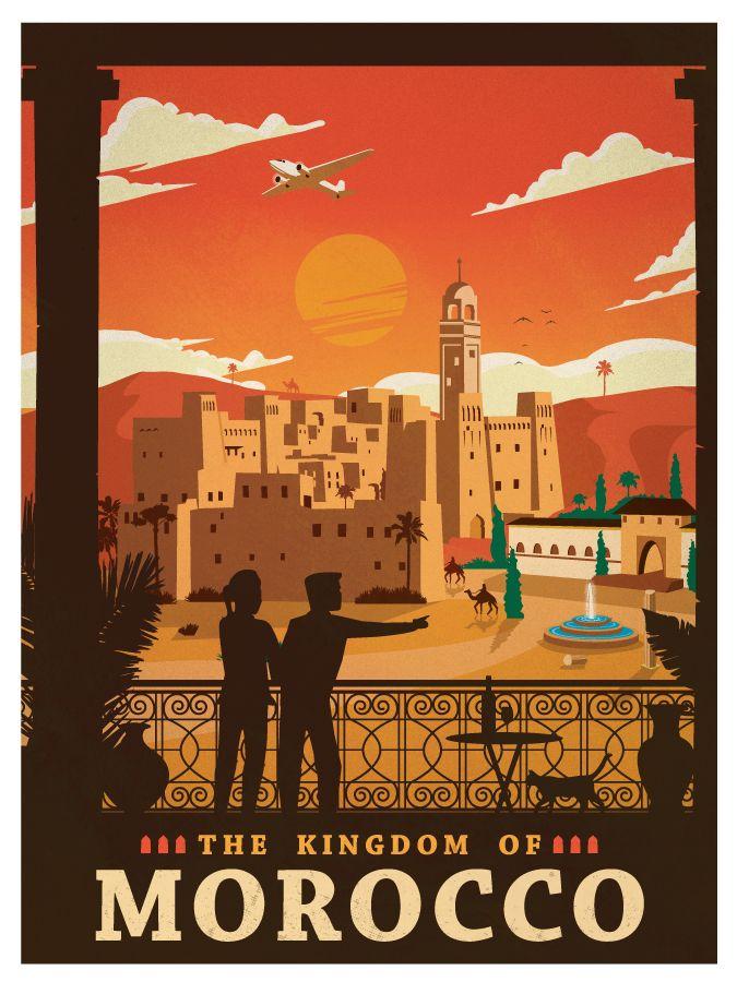 Vintage Morocco Poster