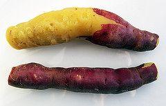 Paarse zoete aardappel