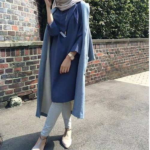 Image de hijab and blue