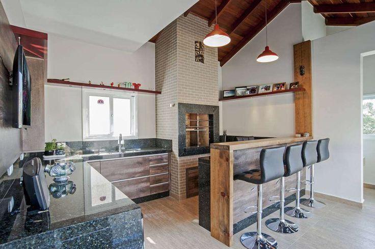 Churrasqueira Rústica : Cozinhas rústicas por Patrícia Azoni Arquitetura + Arte - homify / Patrícia Azoni Arquitetura + Arte