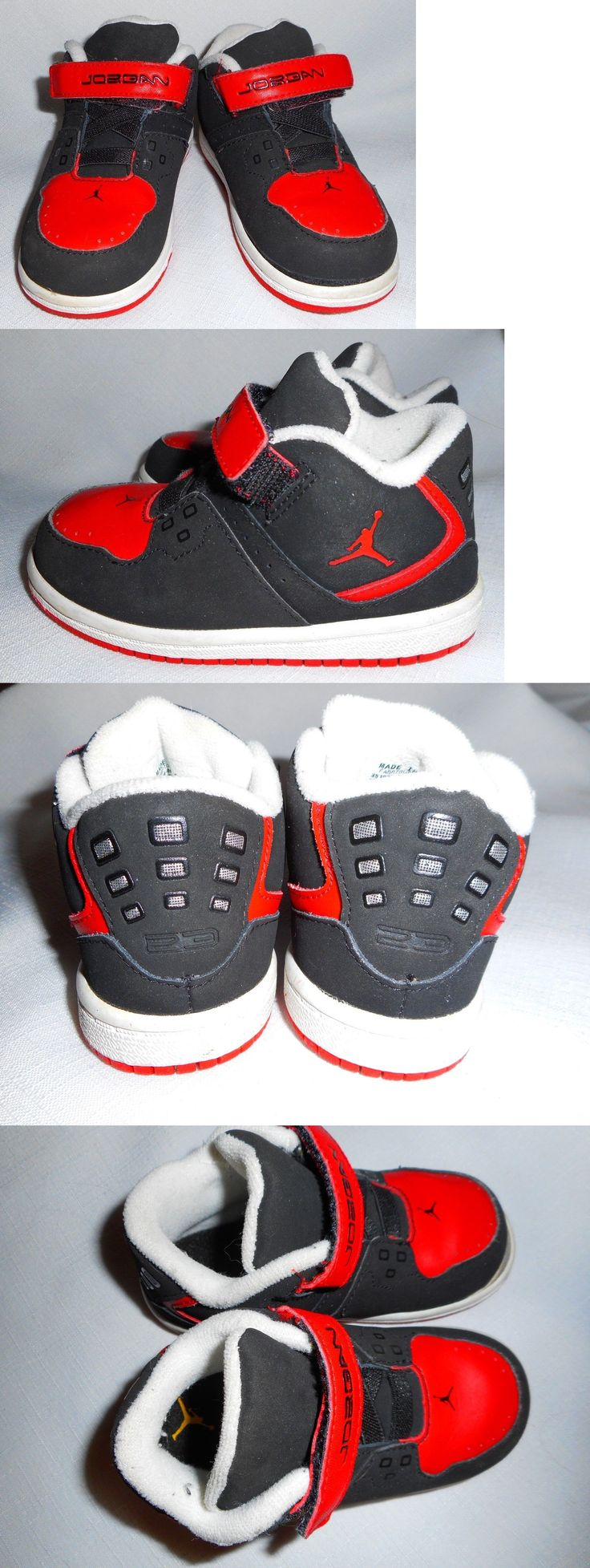 Michael Jordan Baby Clothing: Michael Jordan Nike Toddler Boys Mid Top Faux Black Suede And Red Shoes-Siz 7C-Euc BUY IT NOW ONLY: $19.99