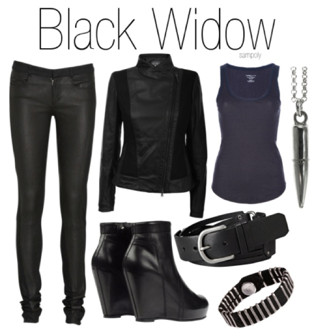 The Avengers outfit - Black Widow. Would be better with more manageable shoes