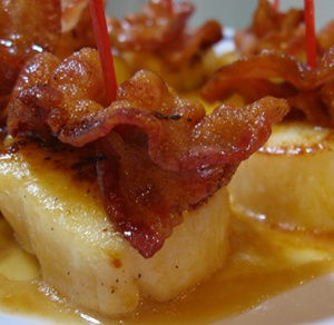 Bacon Scallops with Butter Sauce