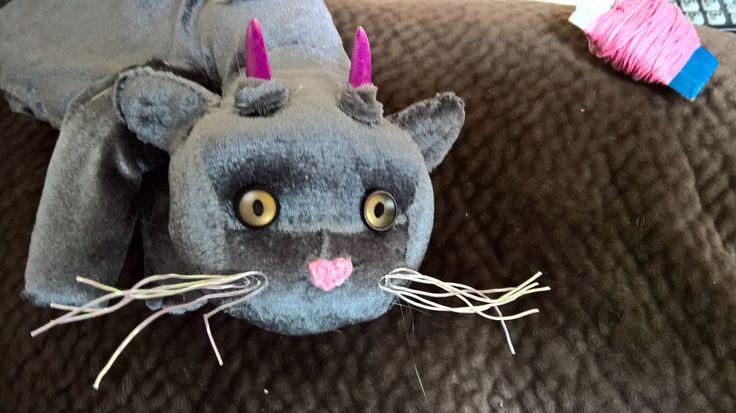 cat dragon in progress for Julibean's quiet book