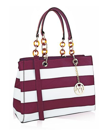MKF Collection Orchid Stripe Satchel | zulily - This MKF Collection bag is absolutely perfect for this end of summer! Carry it to work, to your drinks with friends or your romantic dinner! And via Zulily you'll have the best deal!Even though we don't want to admit it, summer is coming to an end and we have to get ready to go back to work! And with #zulily you'll make your come back more stylish, fun and fabulous than ever! Click here to see my suggestions! #zulilyfinds #zulilystyle…