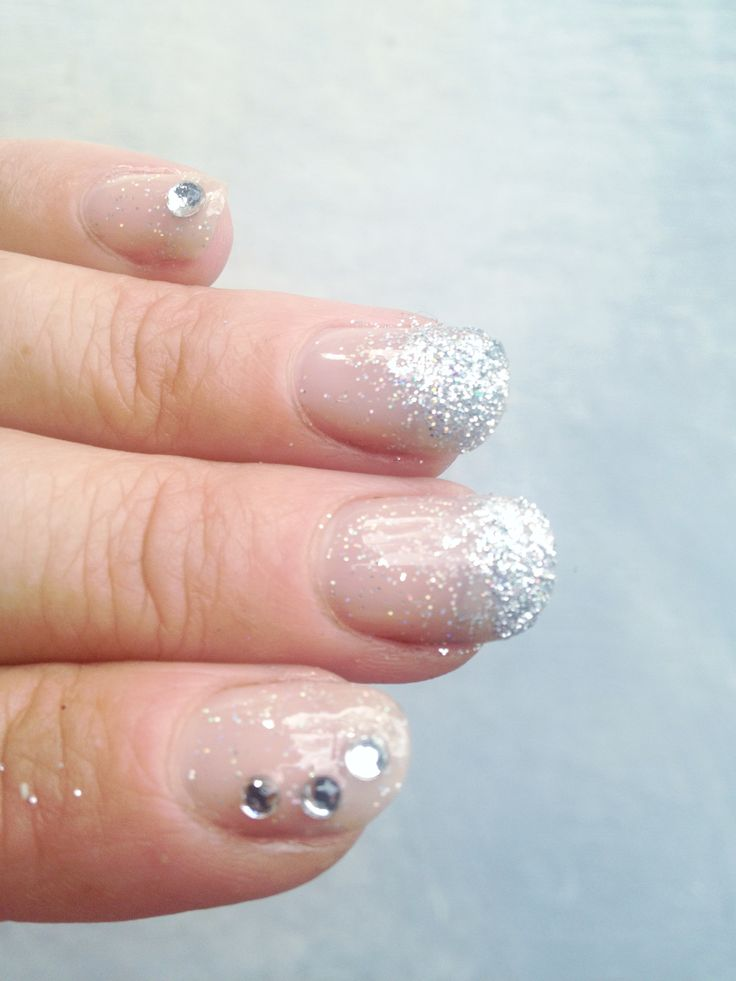 Use glitter and glue on rhinestones for special occasion nails.