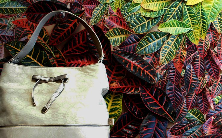 Holy Hanna Handbags  Spring 2014  Sueded Snake print Tote