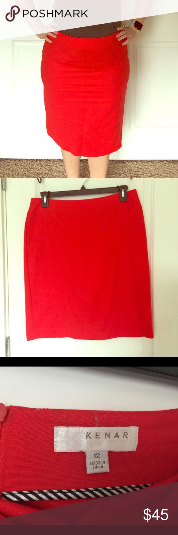 Kenar Red Pencil Skirt sz 12. Kenar Red Pencil Skirt sz 12. Worn twice! Such a classic piece! Kenar Skirts Pencil
