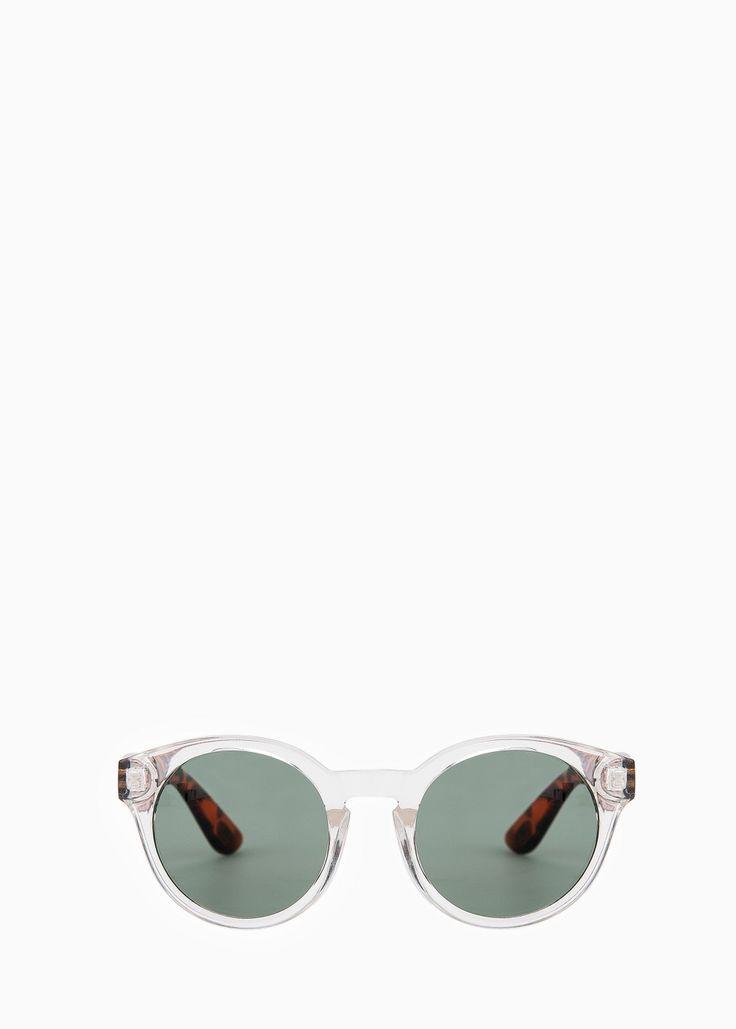 Солнцезащитные очки в полупрозрачной оправе