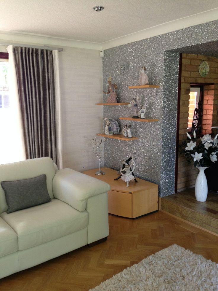 28 best diy images on pinterest glitter wallpaper for Glitter wallpaper living room