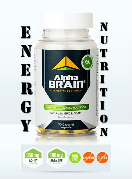 *ALPHA-BRAIN* can help the body deliver oxygen and nutrients to the brain, and the combination of neuro-specific antioxidants, assists your system in clearing away mental fog and free radicals. (Stimulant-Free) Learn more: http://www.myenergynutrition.com/onnit-labs.html