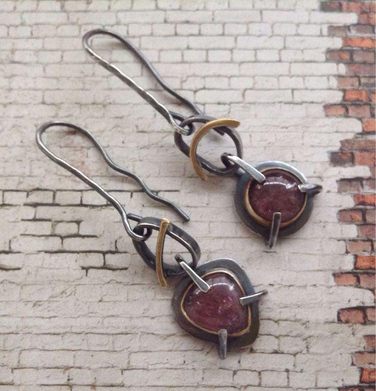 Купить Серьги с турмалинами - серьги с турмалинами, турмалин серебро, турмалиновые серьги, длинные серьги, серебро