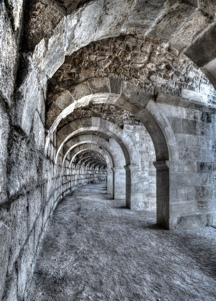 Aspendos inside by Vedat Hadi GÖYMEN -Aspendos was an ancient city in Pamphylia, Asia Minor, located about 40 km east of the modern city of Antalya, Turkey.