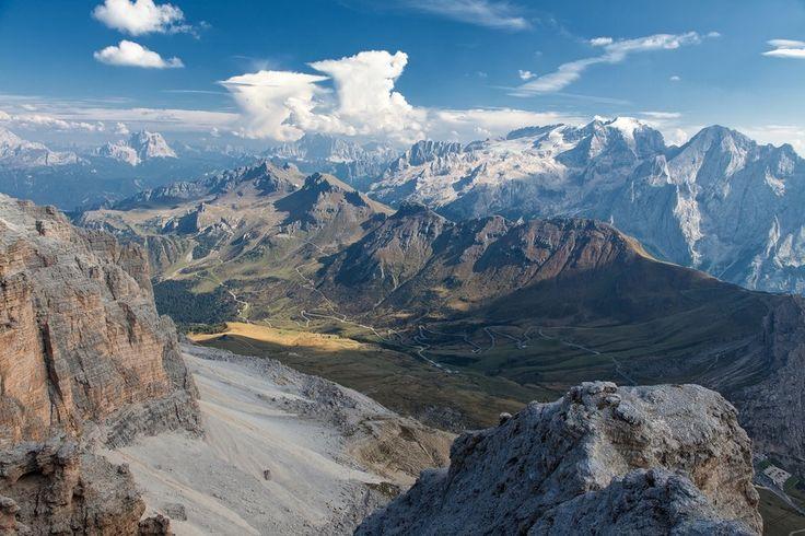 Italy/Alps; Passo Pordoi, Glacier, Marmolata, Mountains