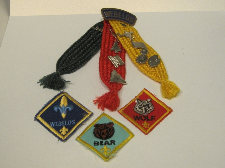 Vintage Boy Scout Badges Boy Scout Webelos Ribbon With