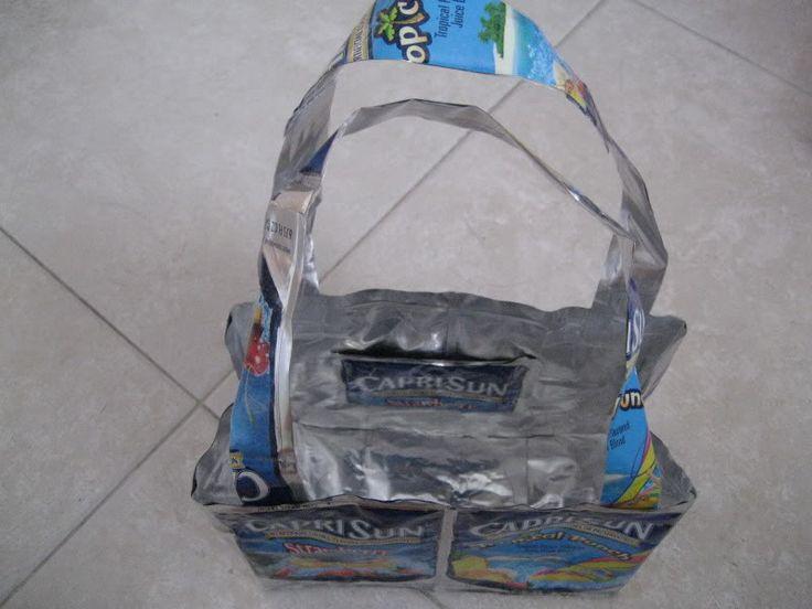 how to make a capri sun purse