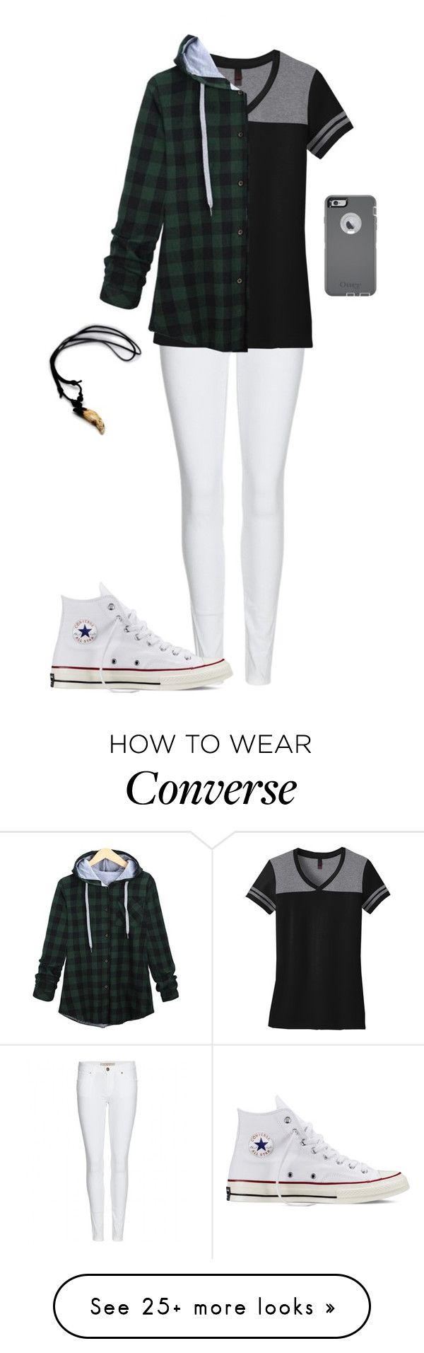 """Untitled #552"" by breemanor on Polyvore featuring Burberry, Converse and OtterBox"