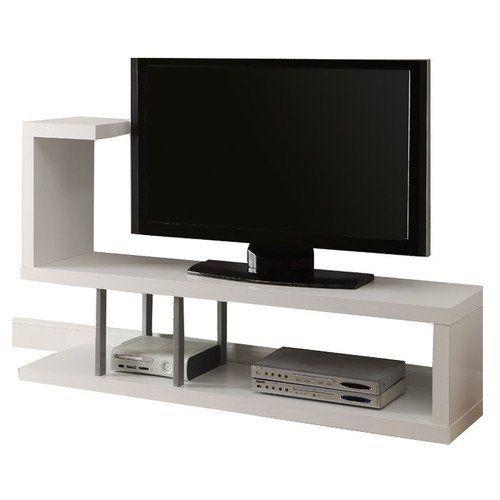 """Monarch Specialties Inc. 60"""" Tv Stand Ii White/Cappuccino Innovative Design (White) Monarch Specialties Inc. http://www.amazon.com/dp/B00VGP77B8/ref=cm_sw_r_pi_dp_WHtGwb1PWEBWS"""