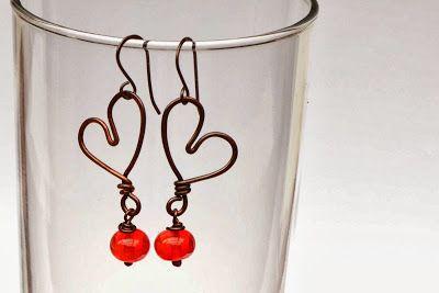 Be my Valentine lampwork earrings