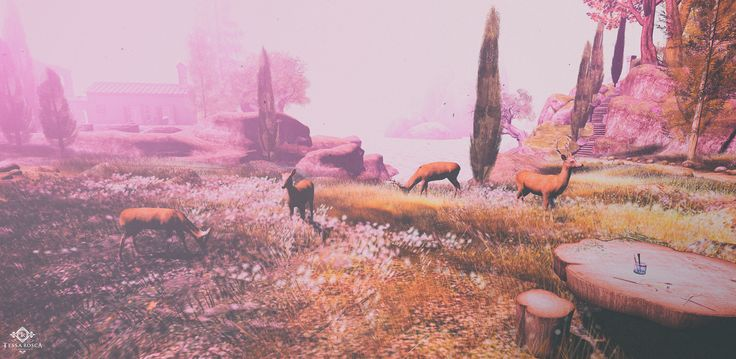 Deer at Dusk  #secondlife #landscape #SL