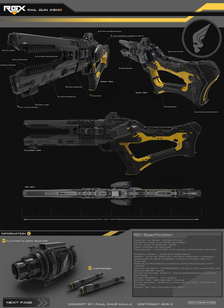 ArtStation - Rail Gun Xeno (RGX) Version 1.0, Paul Dave Malla