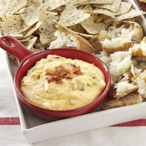 Hot Bacon Cheese Dip Recipe from Taste of Home -- shared by Suzanne Whitaker of Knoxville, Tennessee