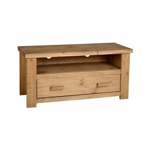 Wooden TV Stand Chunky Rustic Media Storage Drawer Unit Cabinet Sideboard Table