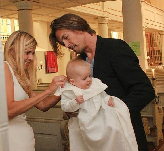 Noble christening gown of linen for boys by RealCraftsmanship