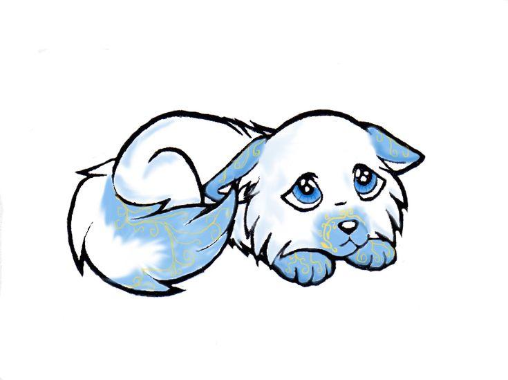 how to draw chibi spirit animal easy