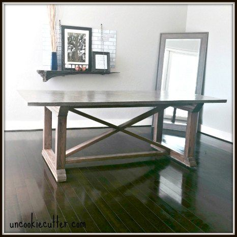 best 25 concrete top dining table ideas on pinterest concrete kitchen table extendable Concrete Kitchen Table DIY