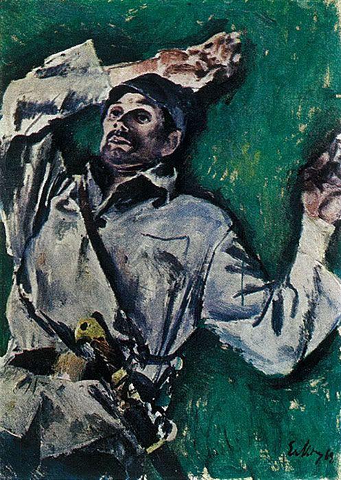"""Евсей Моисеенко - Этюд к картине """"Черешня"""". 1968"""