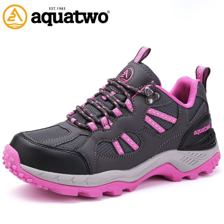 New Women Outdoor Trekking Shoes Autumn Winter Brand Lace Up Blue Pink Purple Shoes for Women US4-8