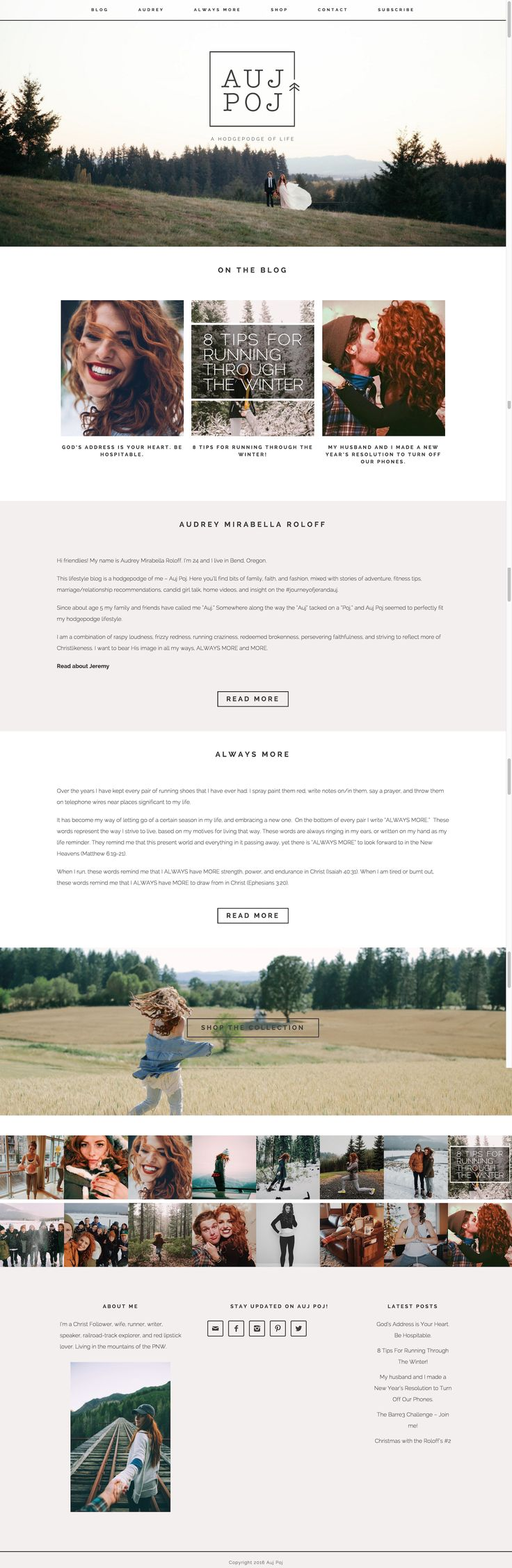 Love this sweet and stunning take on Station Seven's Coastal theme by Audrey Roloff  #blog #wordpresstheme