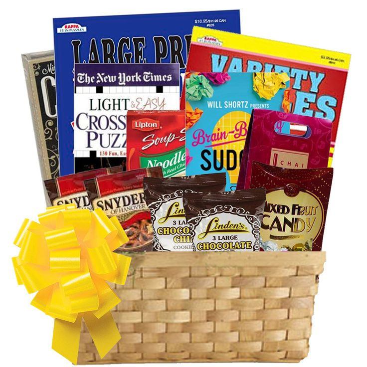 Puzzle Books Gift Basket of Entertainment