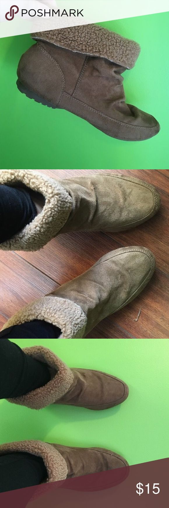 Faux Fur Ankle Boots Faux Fur ankle booties, great condition, barley worn! Very cute and comfy! Lower East Side Shoes Ankle Boots & Booties