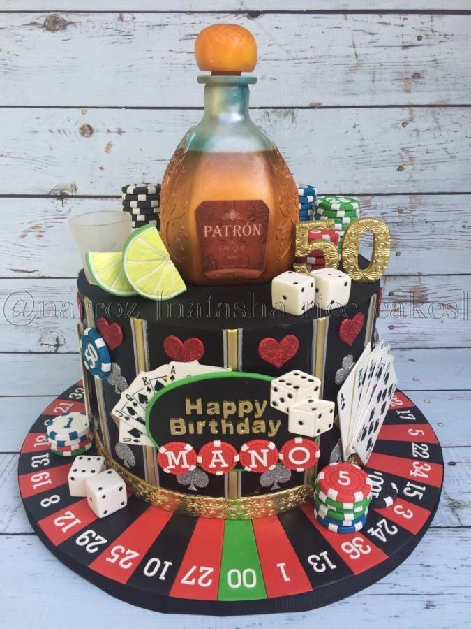 Casino themed 50th birthday cake by Natasha Rice Cakes