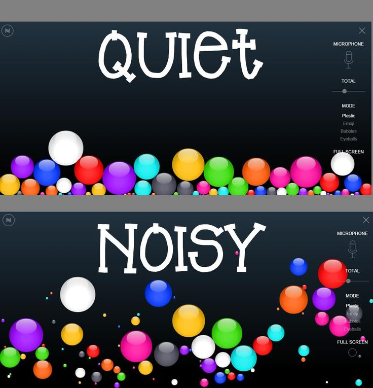 Monitor classroom noise level with this program. Great visual for students to see how noisy the classroom can get.