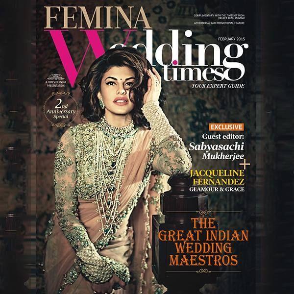 Jacqueline Fernandez Sizzles on Femina Wedding Times Februrary 2015