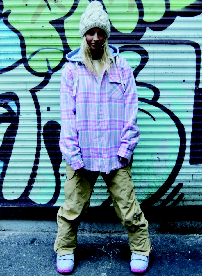 Image of OOTZ 053 - OOTZ Sherpa Lined Tall Flannel - Pink Check