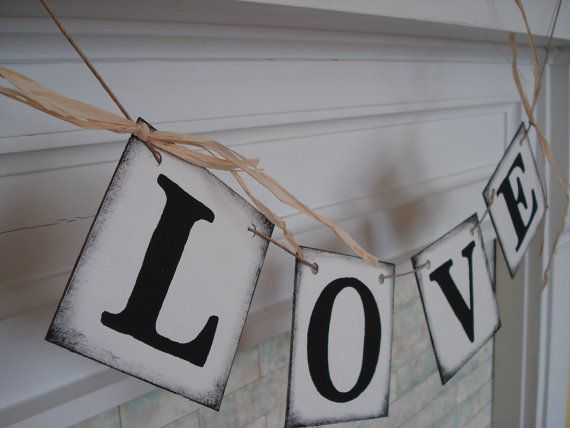 Wedding Reception Decorations LOVE Banner Sweetheart Table Decor Bridal Shower Decor Photo Prop on Etsy, $11.71 CAD