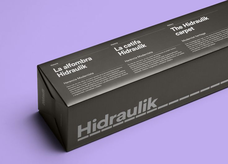 Packaging designed by Huaman Studio for mat and rug business Hidraulik